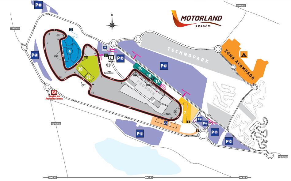 Plano del Circuito de Motorland