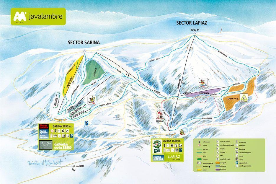 Plano de la estación de esquí de Javalambre Teruel