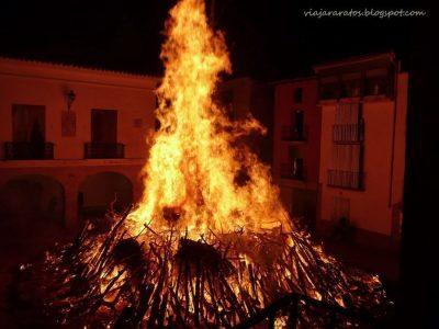 Hoguera de San Sebastián, en Castelserás @ Castelserás   Aragón   España