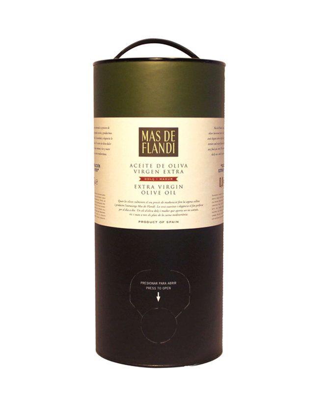 Aceite de oliva virgen extra Empeltre y Arbequina Mas de Flandí (Matarraña, Teruel)