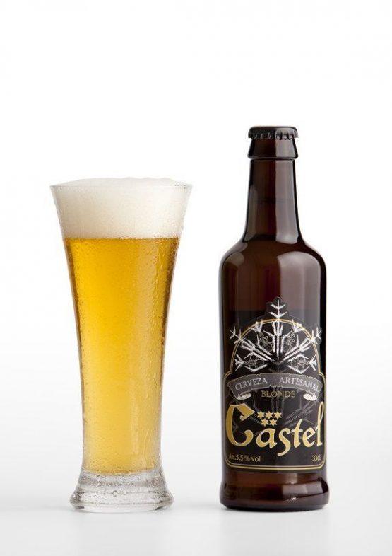 Cerveza artesana Blonde Castel elaborada en El Pobo (Teruel)