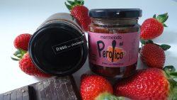 Mermelada fresa con chocolate El Perolico elaborada artesanalmente en Rubiales (Teruel)
