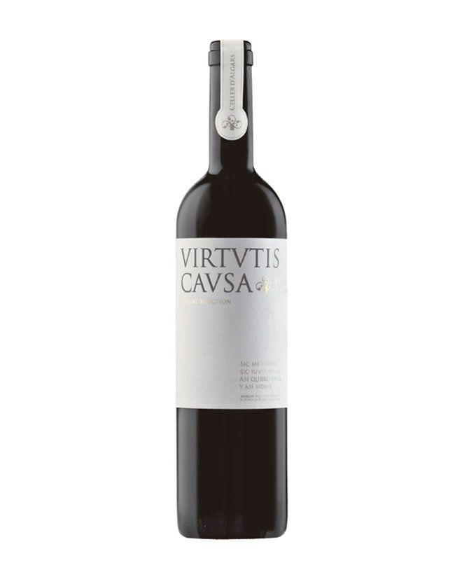 Vino tinto reserva Virtutis Causa de Celler D'Algars en el Matarraña (Teruel)