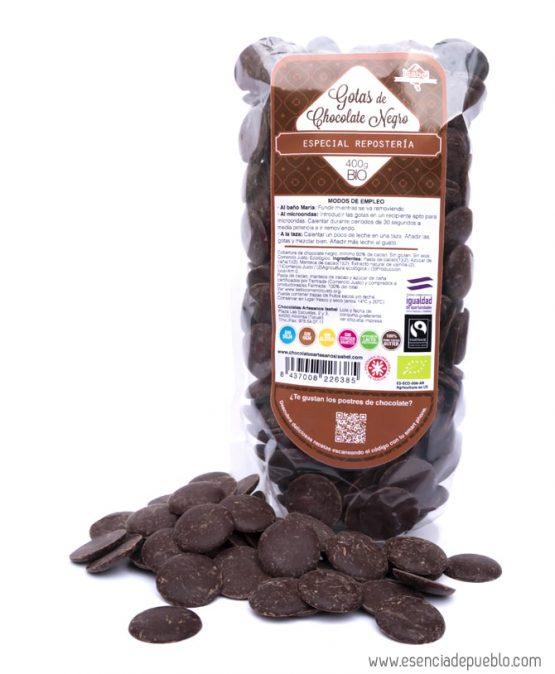 Gotas de chocolate negro BIO para repostería