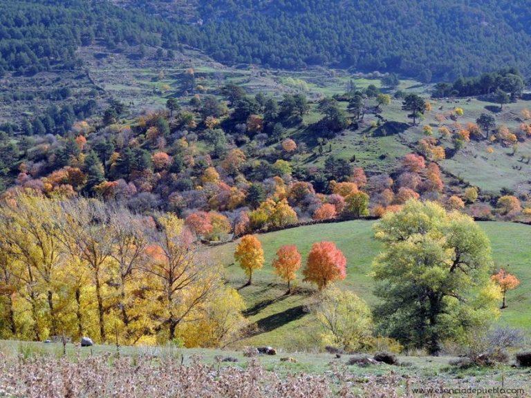 Foto otoñal de la Sierra de Gúdar en Teruel