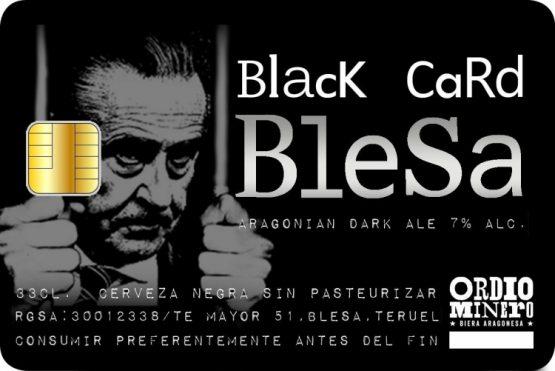 Comprar cerveza negra artesana Black Card Blesa de Ordio Minero