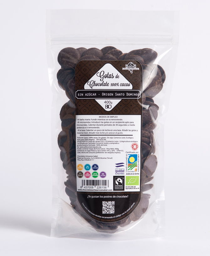 Comprar Gotas de chocolate negro sin azúcar