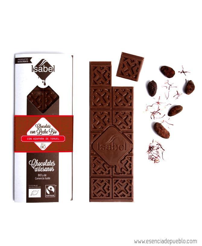 Comprar chocolate artesano con azafrán, de chocolates Isabel