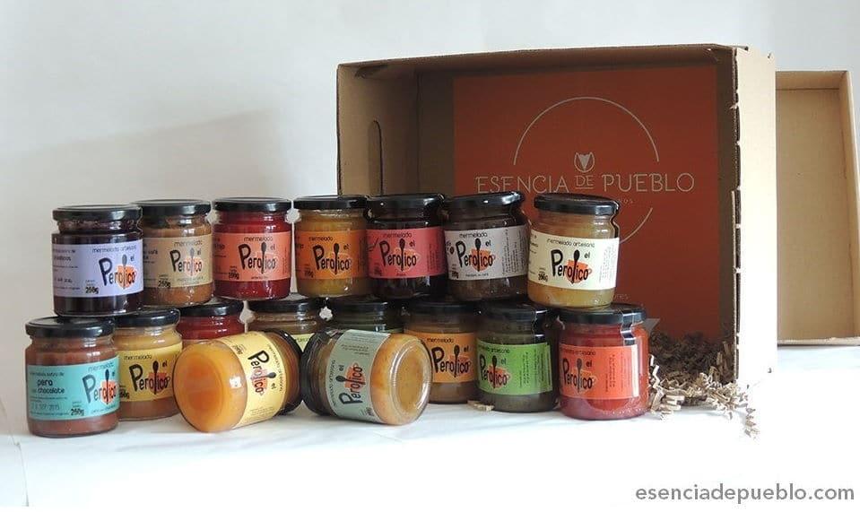 Diferentes variedades de mermeladas gourmet