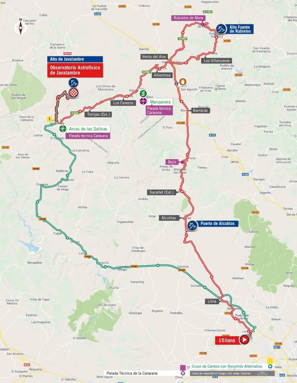 plano etapa 5 la vuelta 2019