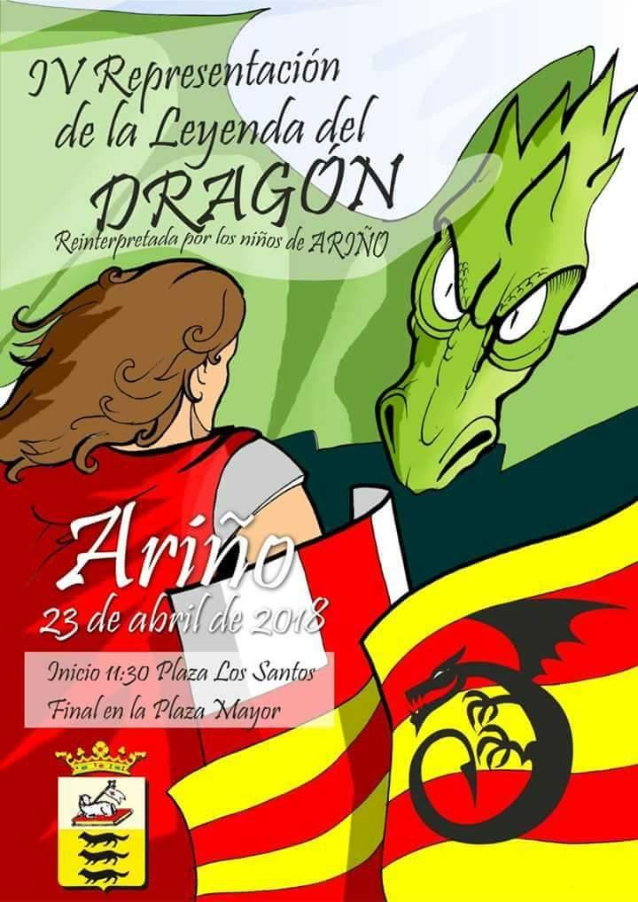 leyenda dragón Ariño 2018