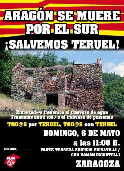 Manifestación ¡Salvemos Teruel! @ Zaragoza | Aragón | España