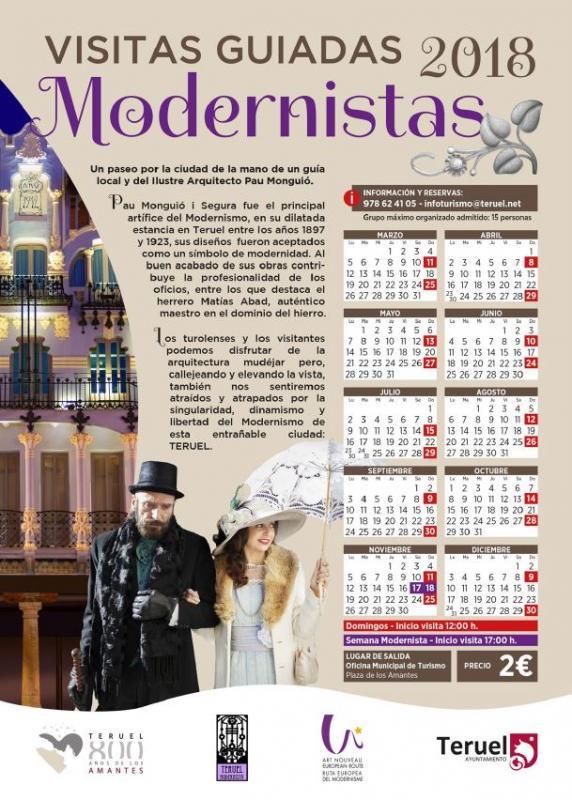 Visitas guiadas Modernistas Teruel 2018