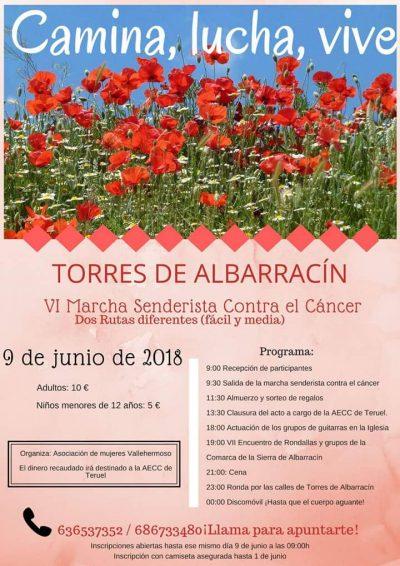 VI Marcha senderista contra el Cáncer @ Torres de Albarracín | Aragón | España