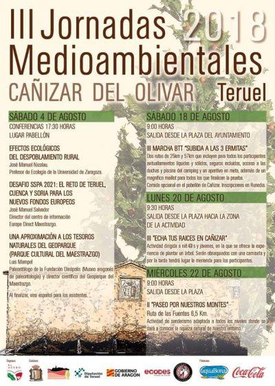 III Jornadas Medioambientales. Cañizar del Olivar @ Cañizar del Olivar | Aragón | España