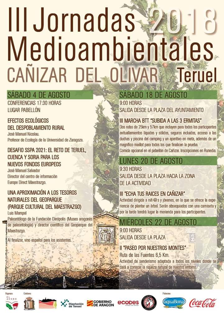 jornadas medioambientales cañizar del olivar 2018