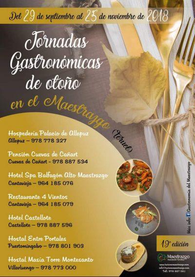 XVII Jornadas Gastronómicas de Otoño en el Maestrazgo @ Aragón | España