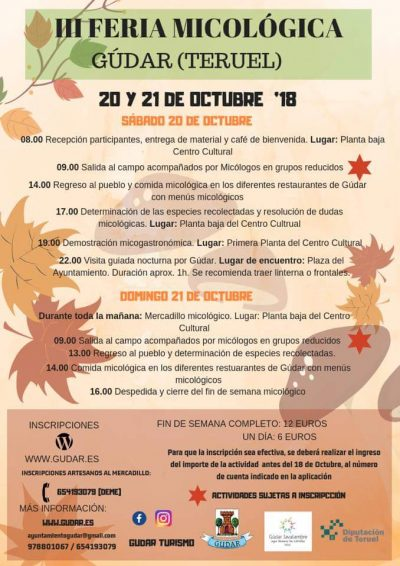 III Feria Micológica de Gúdar @ Gúdar | Aragón | España
