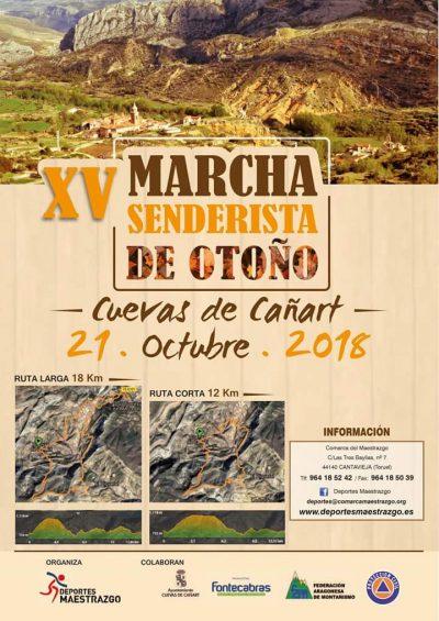 XV Marcha senderista de otoño Maestrazgo @ Cuevas de Cañart | Aragón | España