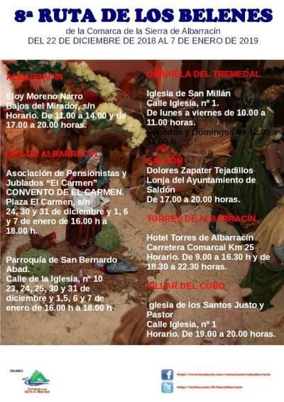 8ª Ruta de los Belenes de la Sierra de Albarracín @ Albarracín | Aragón | España