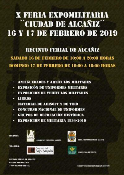 X Feria Expomilitaria Ciudad de Alcañiz @ Alcañiz   Aragón   España