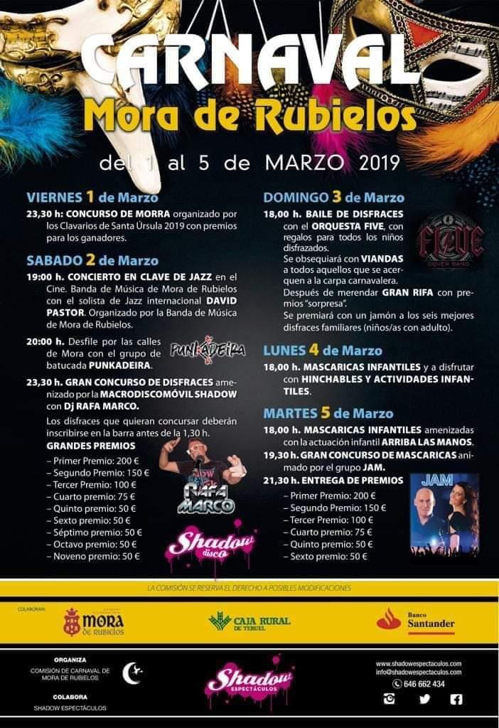 carnaval mora de rubielos 2019