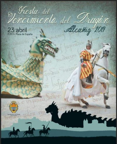 San Jorge. Fiesta del Vencimiento del Dragón. Alcañiz @ Alcañiz | Aragón | España