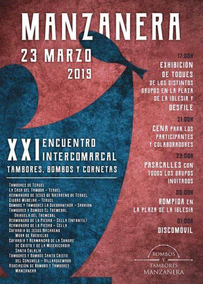 XXI Encuentro Intercomarcal de Tambores, Bombos y Cornetas. Manzanera @ Bronchales | Aragón | España