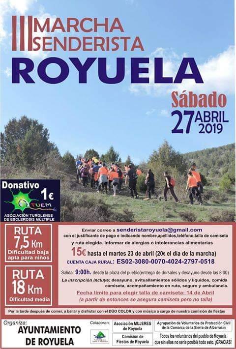 marcha senderista royuela 2019