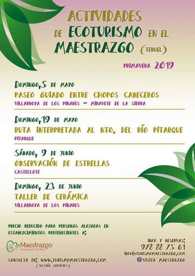 Actividades de Ecoturismo en el Maestrazgo. Primavera 2019 @ Aragón | España