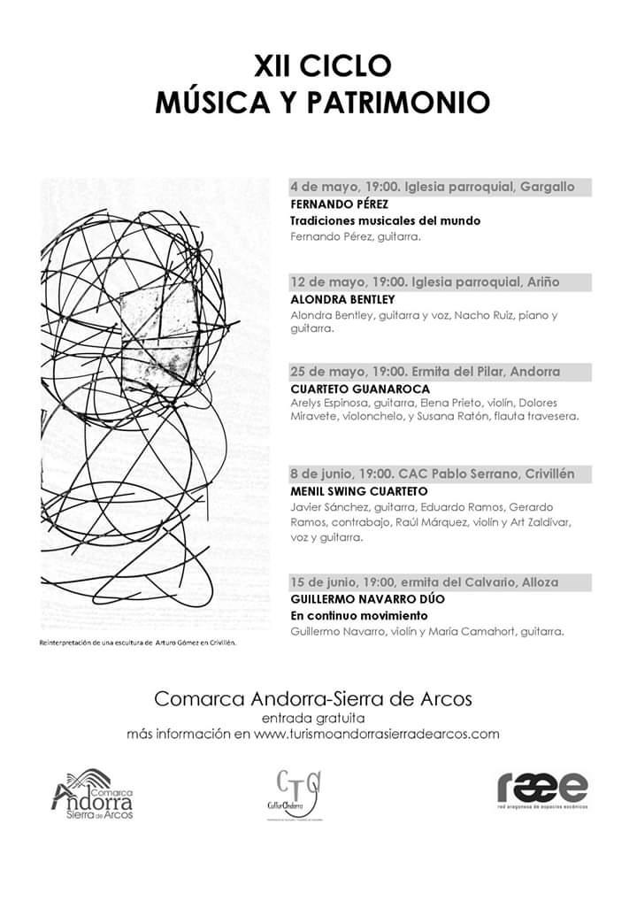 ciclo musica patrimonio andorra sierra de arcos 2019