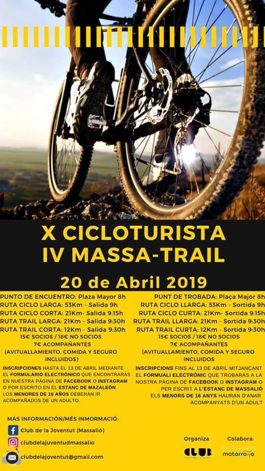 cicloturista y massa-trail 2019