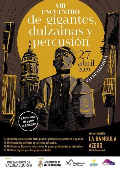 VIII Encuentro de gigantes, dulzaineros y percusión de Valdealgorfa @ Valdealgorfa   Aragón   España