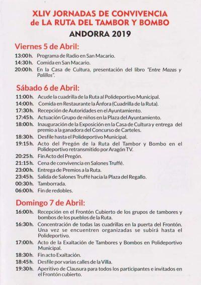 XLIV Jornadas de convivencia de la Ruta del Tambor y Bombo @ Alcorisa   Aragón   España
