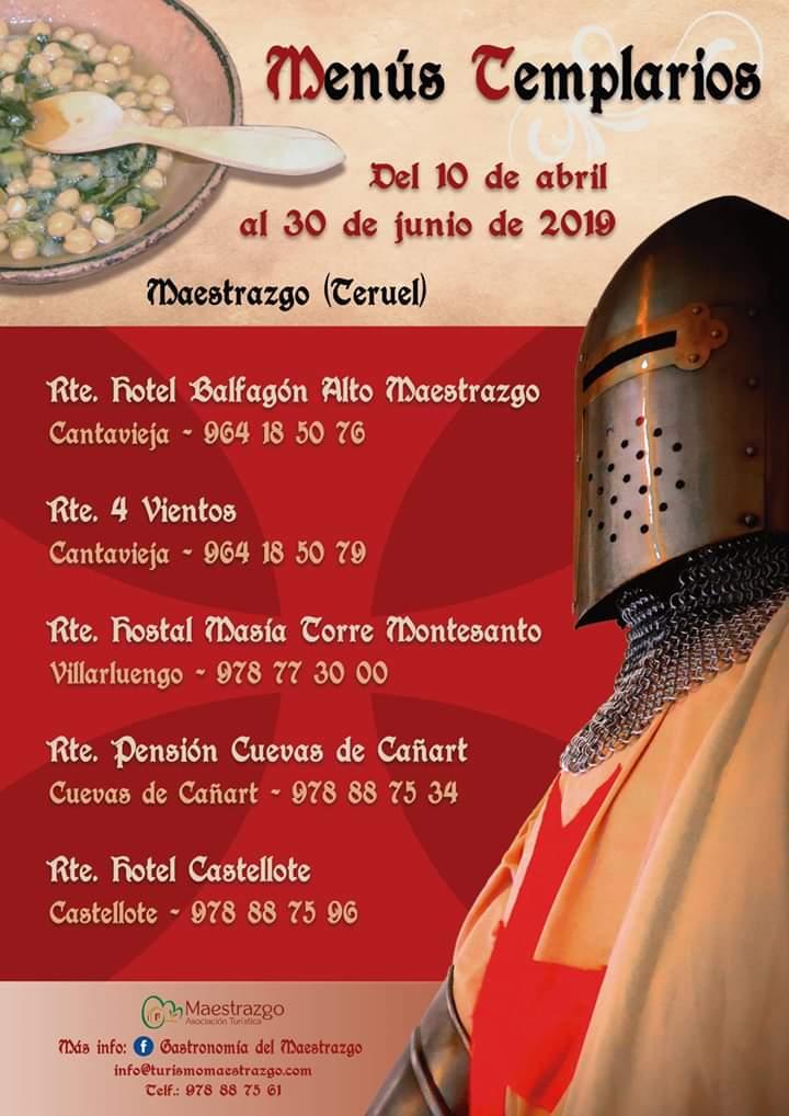 menus templarios maestrazgo 2019