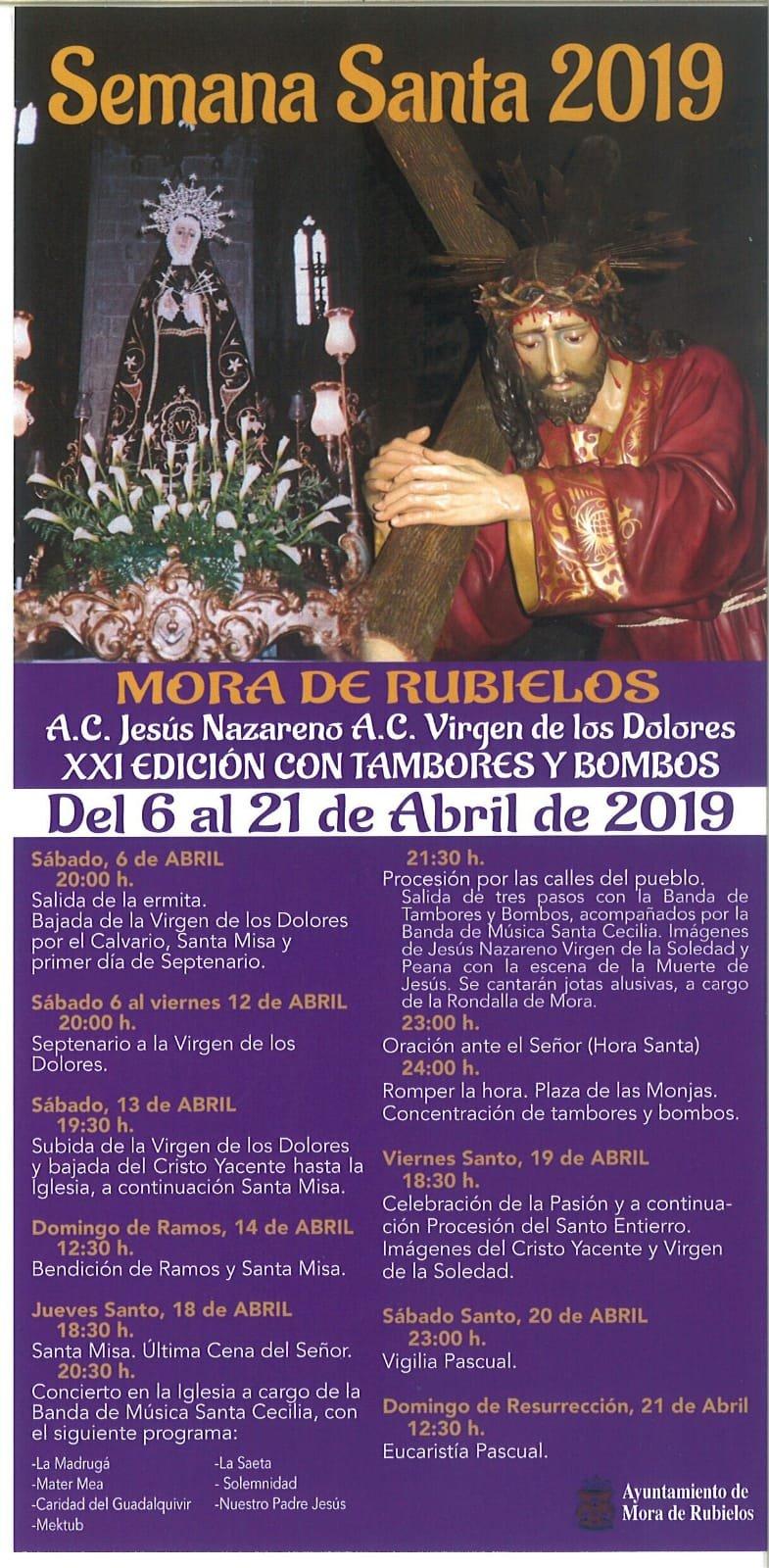 semana santa mora de rubielos 2019