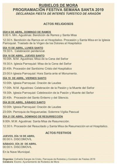 Semana Santa de Rubielos de Mora @ Rubielos de Mora   Aragón   España