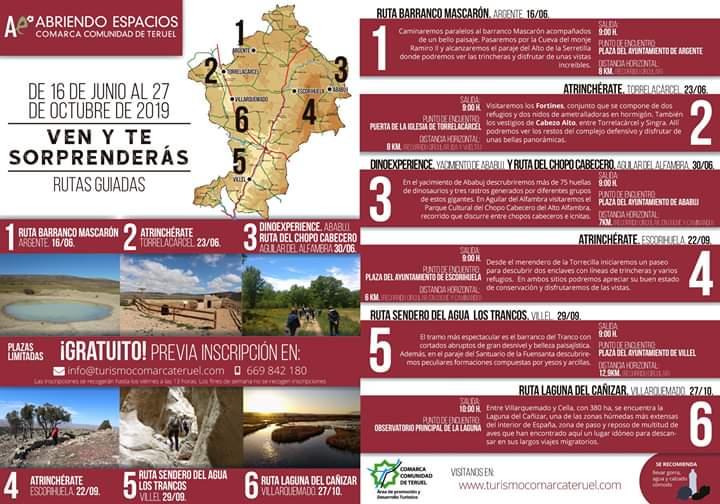abriendo espacios comarca de teruel 2019