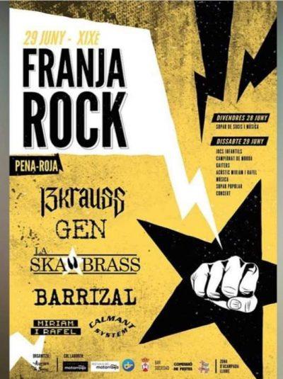 XIX FranjaRock, en Pena-roja @ Peñarroya de Tastavíns | Aragón | España