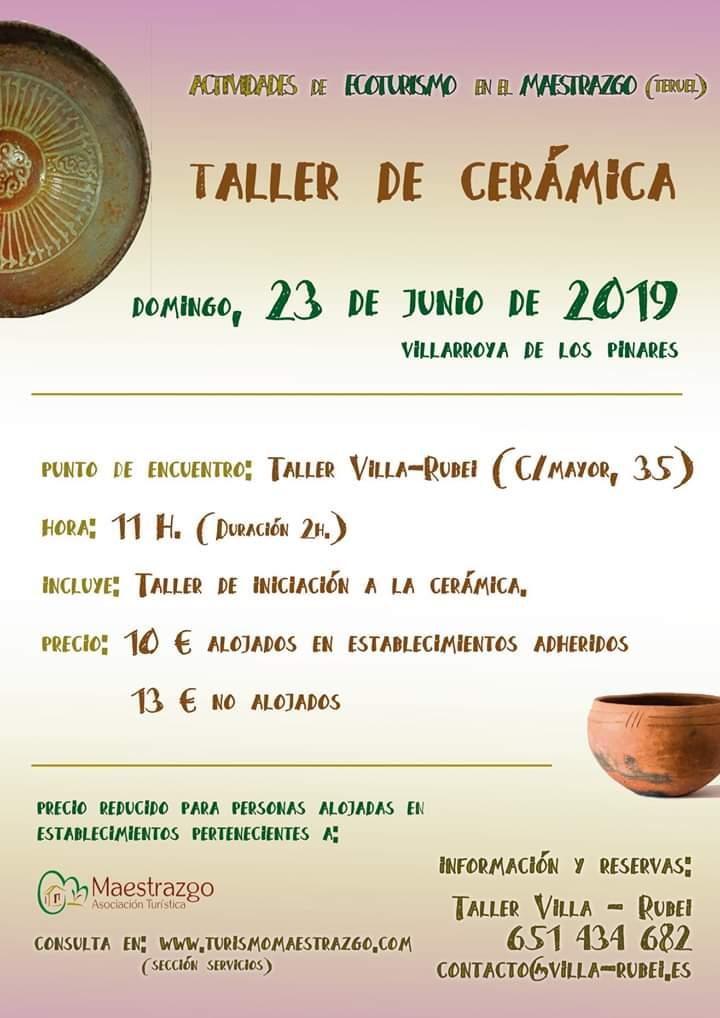 taller ceramica maestrazgo 2019