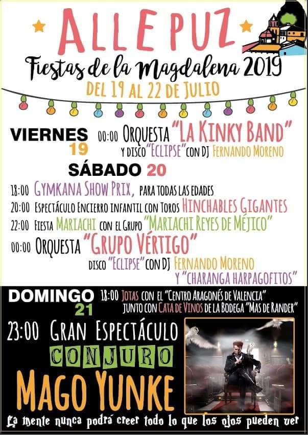 fiestas magdalena allepuz 2019