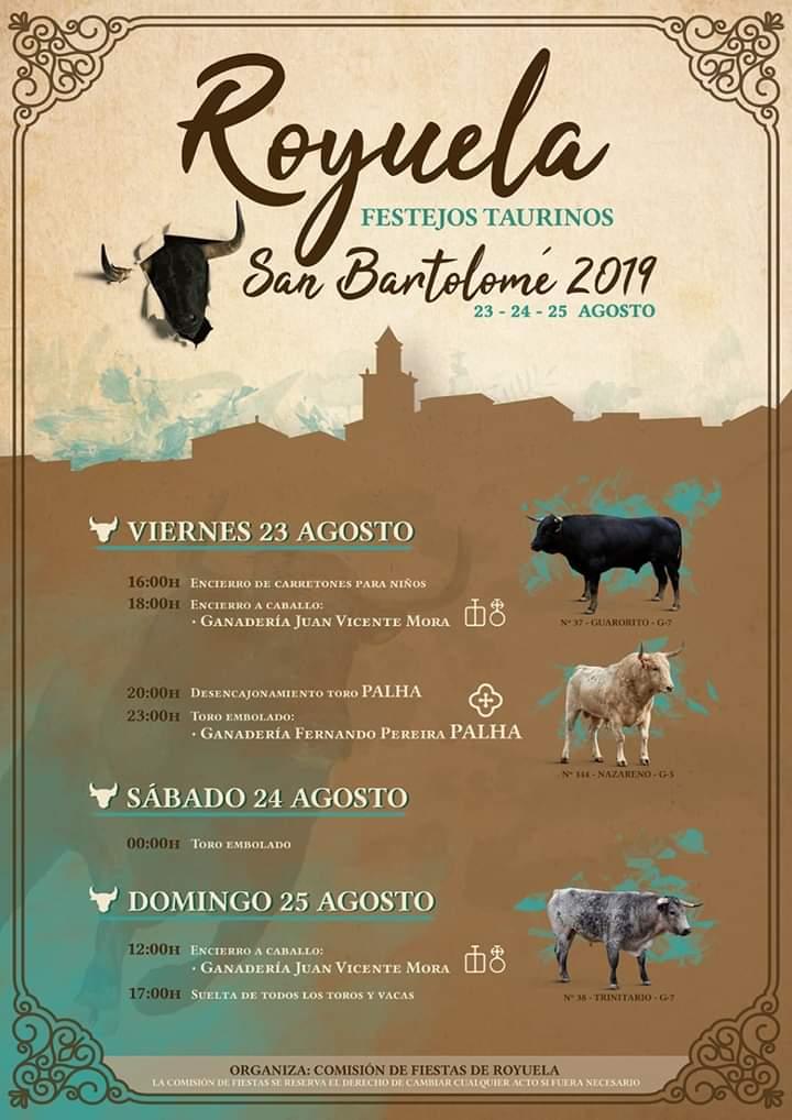 fiestas san bartolome royuela 2019