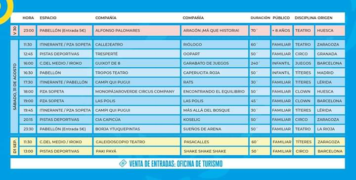 programa carabolas bronchales 2019
