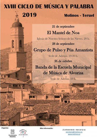 XVIII Ciclo de Música y Palabra 2019. Molinos @ Aragón   España