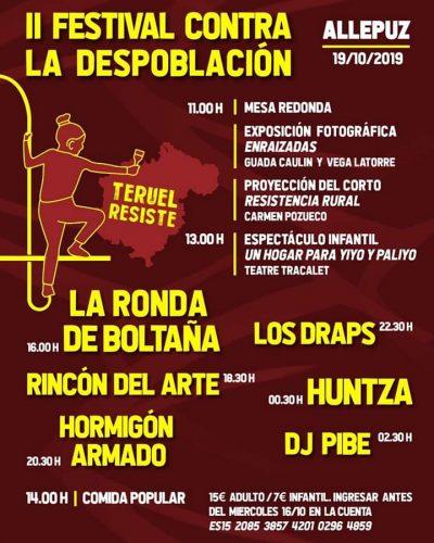 II Festival contra la Despoblación. Allepuz @ Allepuz | Aragón | España