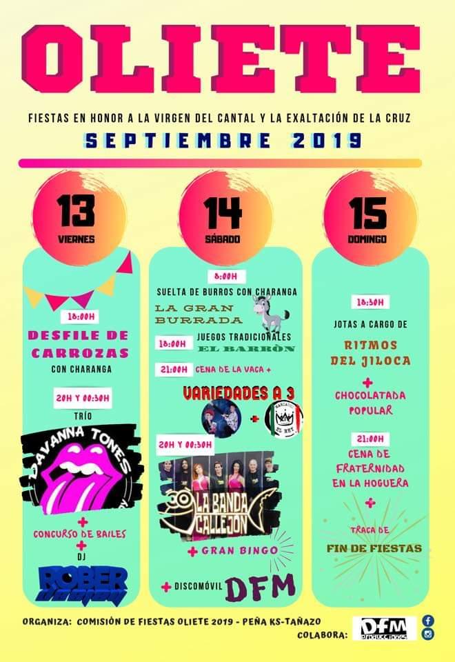 fiestas oliete 2019
