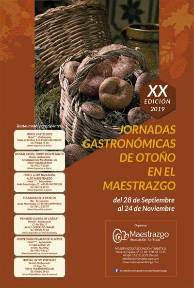XX Jornadas Gastronómicas de Otoño en el Maestrazgo @ Aragón | España