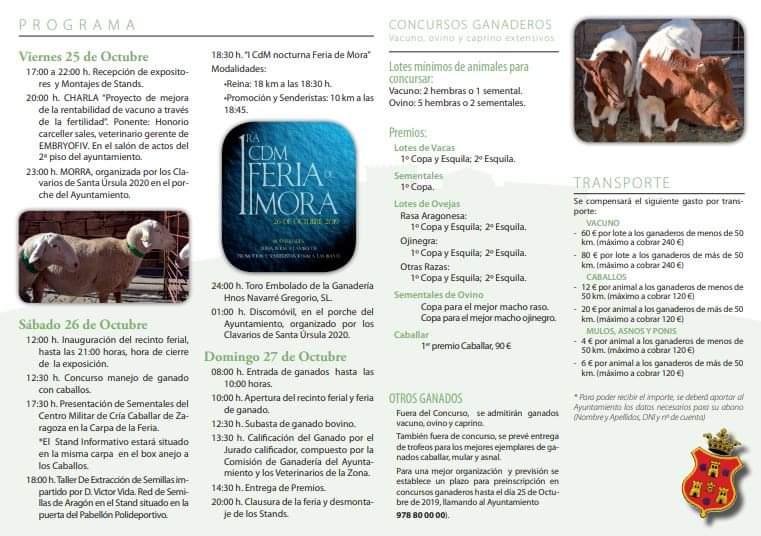 feria mora de rubielos 2019 programa