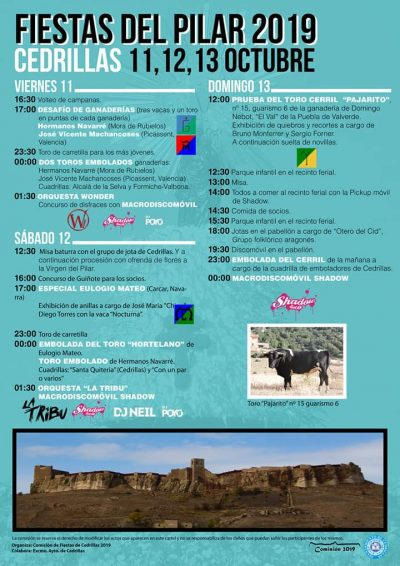 Fiestas del Pilar en Cedrillas @ Cedrillas   Aragón   España