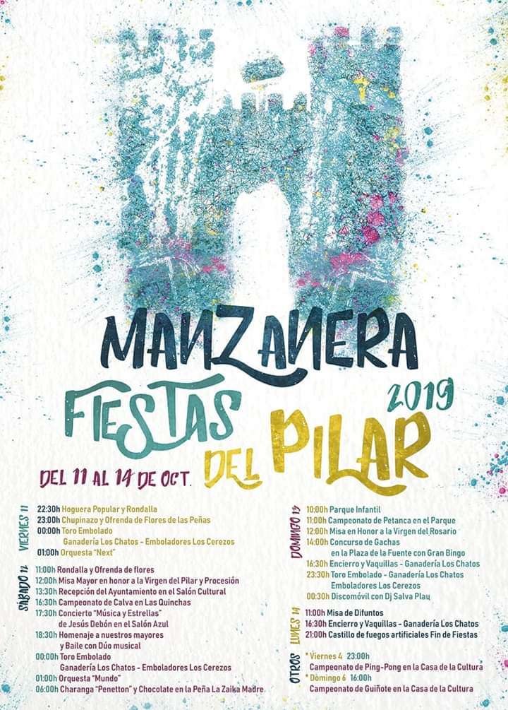 fiestas del pilar manzanera 2019